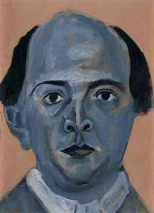 Birth of Classical Music: Blue Self Portrait by Schoenberg