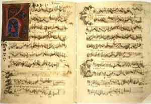 Birth of Classical Music: Manuscript by Busnois